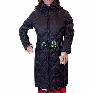 Michael Kors Hooded Packabl Down Puffer Coat Black